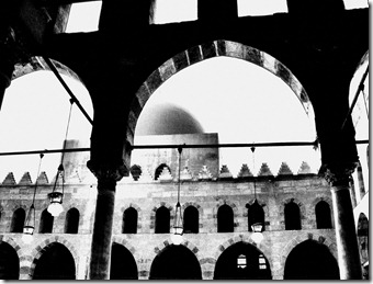 Color-edited mosque, Cairo citadel